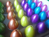 Novelty toy dinosaur eggs six large color color mixed 30 / Box
