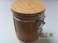 Bamboo Making Moistureproof Heath Eco-friendly Tea storage bottles & jars
