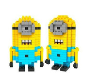 Despicable me Minions Self-Locking Bricks Building Blocks children funny toy Model Building Kits Models & Building Toy