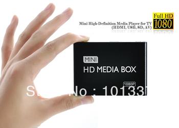 Free shipping!Full HD 1080P HDMI Media Player,Digital Signage Player,Adverting player box,AV output,SD/MMC Card reader/USB Host