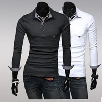 2013 Men's shirt collar long sleeve shirt