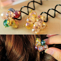 hair tools maker multicolour crystal screw clamp hairpin hairdressing tool hair accessory