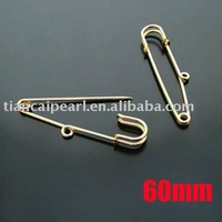 60mm Gold Plated Brooch Pins Safety Pins Brooch Clips Jewelry Findings Jewelry Accessories Jewelry Fittings Nickel Free!!