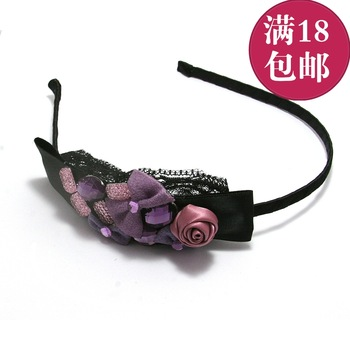 Accessories handmade fabric rose hair bands headband hair accessory d21