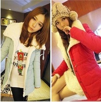 Spring and autumn 2013 plus size women thickening wadded jacket berber fleece thermal large lapel short jacket