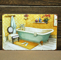 """Take A Bath"" Retro Metal Poster Tin Sign Wall Decoration For HOME CLUB SHOP Hanging"