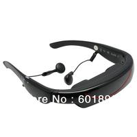 "4GB 72"" Stereo MP3 E-book AV Video Glasses Virtual Personal Cinema Theater Eyeglasses wholesale free shipping #160961"