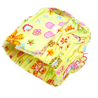 New Pet Diaper Dog Apparel Sanitary Pants Yellow Flower S M L