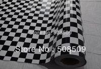 Car black and white plaid doodle membrane small square grid car film 1.52 meters width 3D Carbon Fiber Vinyl car stickers