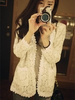 Ellpe - fashion lace crochet cardigan