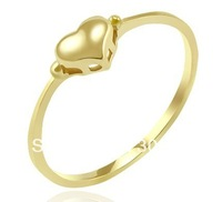 pure 14k yellow gold ring supperchain round with small solid hearts  can be DIY lettering birthday engagement gift free shipping