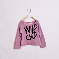 2013 100% cotton small colored cotton sweatshirt children's clothing letter