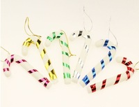 Free shipping beautiful Christmas decoration gifts small candy cane cane Christmas tree ornaments 6pcs/lot