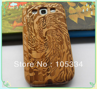 100% High Quality New Real Natural Wood Wooden Hard Case Cover For Samsung Galaxy S3 SIII i9300 Sea Wave