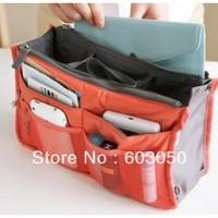 Bag in bag Dual Portable Insert Handbag Purse Large liner Makeup Storage Organizer Bags HOT SALES 200pcs