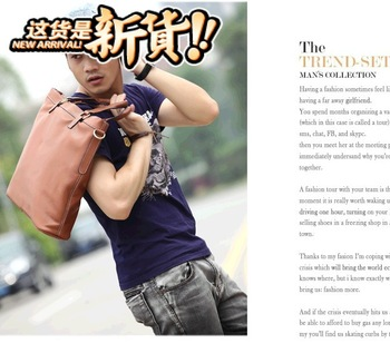 2013 man bag vertical male handbag messenger bag casual bag personalized laptop bag