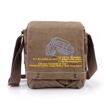 2013 fashion male business bag print canvas messenger bag fashionable casual male travel bags