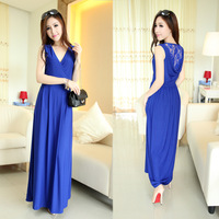 Summer women's 2013 sleeveless sexy lace slim high waist tank dress one-piece dress