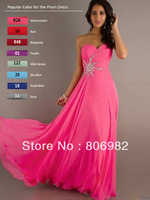 Sexy Fushia Long Bridesmaid Prom Dress Formal Ball Gowns   (Z424) Size 2 4 6 8 10 12 14 16 +,
