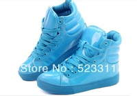2012 Fashion high shoes candy color casual shoes sport shoes boots skateboarding shoes lovers design