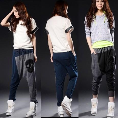 Baggy Sweatpants For Girls Girls hip hop dance harem