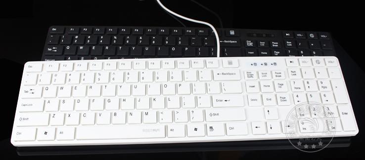 Computer wired usb laptop circumscribing chocolate keyboard for apple white ultra-thin keyboard(China (Mainland))