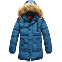 Free shipping Children Down Boys long down jacket Big boy Down Warm coat