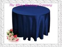 10 Premium 90'' Round Satin NAVY BLUE Table Cloth Round