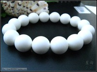 Sea star crystal white tridacna bracelet - - 14mm