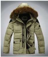 Free Shipping 2012 winter male Fur Collar Man's Down Coat Winter Warm Down Jacket For Men Outwear Down