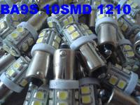 FreeShipping wholesales 10 SMD BA9S 3528/1210  3 chip BA9S h6w led car bulb