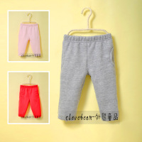 new 2013 autumn winter children's clothing baby girls thickening fleece sweatshirt trousers child sports casual pants Free ship