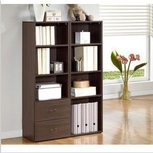 Simple bookcase white 4 bookshelf bookcase child storage cabinet storage cabinet