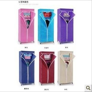 Singleplayer Small simple child cloth wardrobe cabinet steelframe folding cloth wardrobe