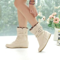 Fashion elevator boots female spring and autumn single boots casual 34-39