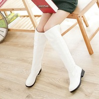 Boots female spring and autumn boots white high-leg boots platform boots 2013