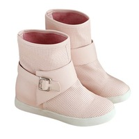 Boots female spring and autumn boots flat heel boots with a single platform elevator flat autumn red
