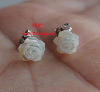 Full 925 pure silver natural shell stud earring stud earring