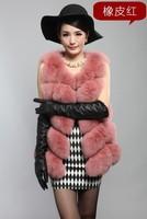 2013 Autumn and Winter Women's Genuine Fox Fur Waistcoat Female Warm Vest Sleeveless Outerwear VK1156
