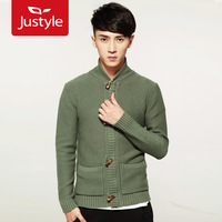 Casual fashion cotton 100% horn button sweater