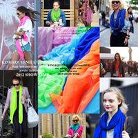 Fashion star autumn and winter bali yarn neon candy color scarf female cape