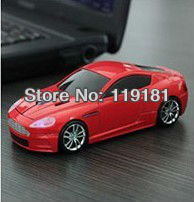 Wholesale 1600dpi 3D USB Optical 2.4G Wireless Mouse Game Aston Martin DBS Car Computer Mice for PC Laptop Desktop Mac Xmas Gift(China (Mainland))