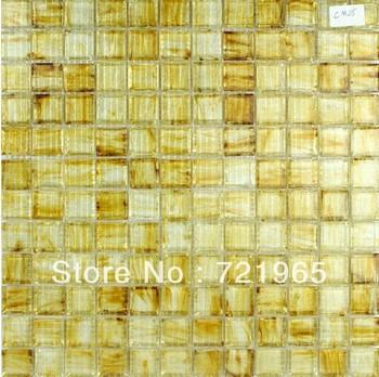 stained glass mosaic tile backsplash igmt038 golden glass mosaic tiles