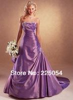 Custom 2013 New Purple Long  A-Line Bridal Gown Wedding Dresses 003