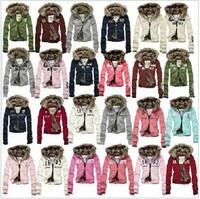 2013 winter lady short design women's cotton-padded jacket outerwear lady warm double layer hooded Sweatshirts wadded jacket