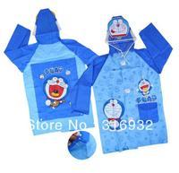 Free Shipping Doraemon PVC Rain Coat for Kids, 1pc