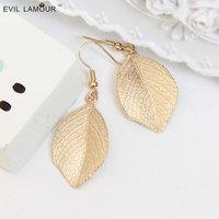 Fashion gold color drop earrings royal vintage earrings women fine jewelry leaves leaf style 031