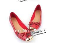 free shipping hot Tsh fashion bling metal square toe flat mix match fashion flat flats women shoes(1pairs)size:35-41