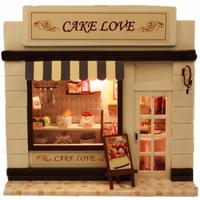 DIY Doll House Mini Furniture Dollhouse Handmade diy mini birthday gift valentine  European American Store Free Shipping