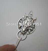 Free Shipping !!6pcs  High Quality Jewelry Silver Dragon Charm Bangle Bracelet The head of dragon bracelet Christmas gifts